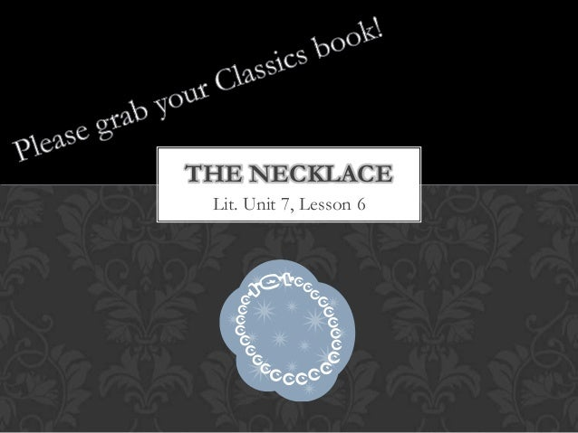 Dramatic Scripts: The Necklace