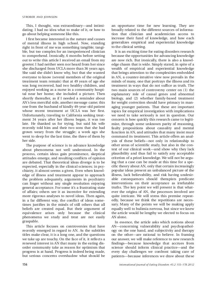 discursive essay on anorexia