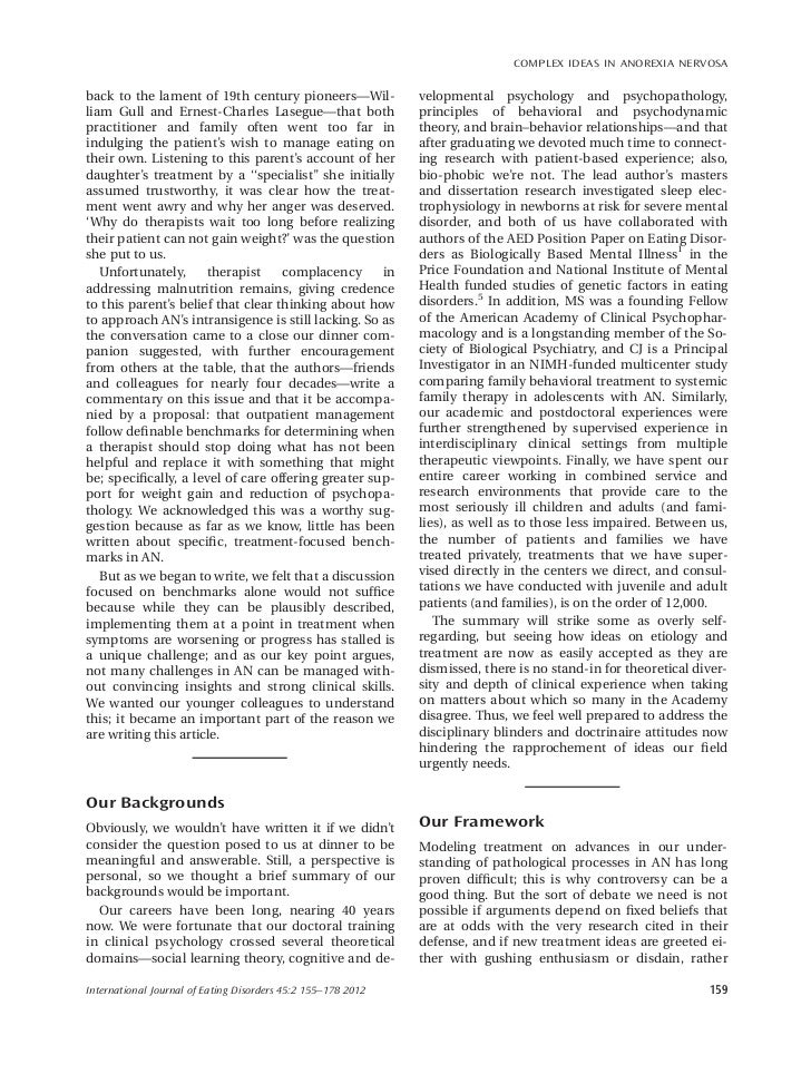 an analysis of the concept of bulimia as a variation of anorexia Similarity between bulimia nervosa and anorexia nervosa fear of obese, preoccupation with food, rigid/maladaptive approach to control weight that grounded in naive all-or-none thinking differences between bulimia nervosa and anorexia nervosa.