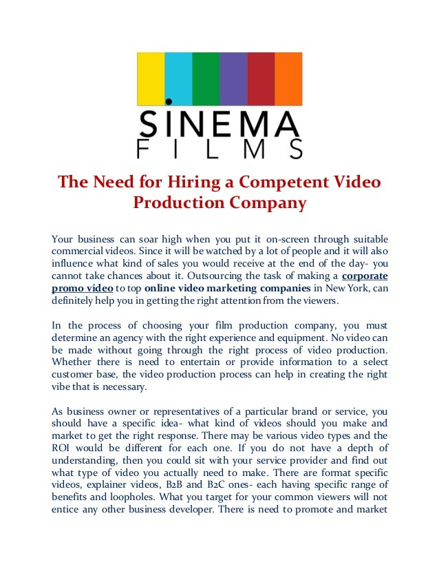 how to find a video production company