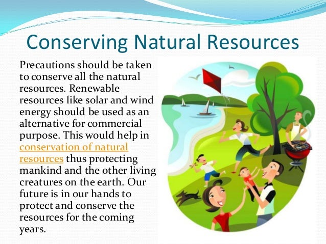 essay on green conservation of natural resources