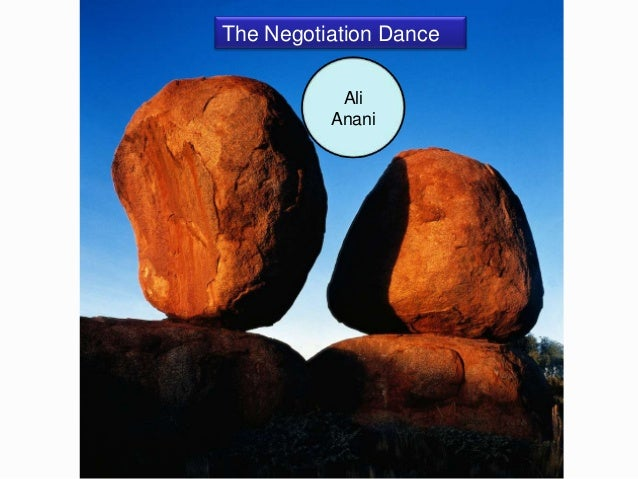 The Negotiation Dance           Ali          Anani