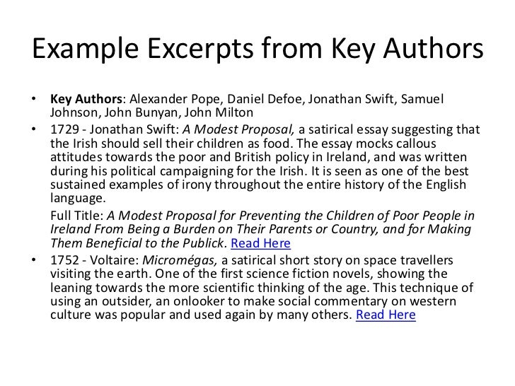an ironic analysis of the jonathan swifts essay a modest proposal A modest proposal critical essays jonathan swift and other ironic and parodic in his 1943 analysis of a modest proposal, george wittkowski argued that.
