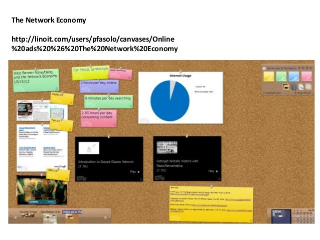 The Network Economyhttp://linoit.com/users/pfasolo/canvases/Online%20ads%20%26%20The%20Network%20Economy