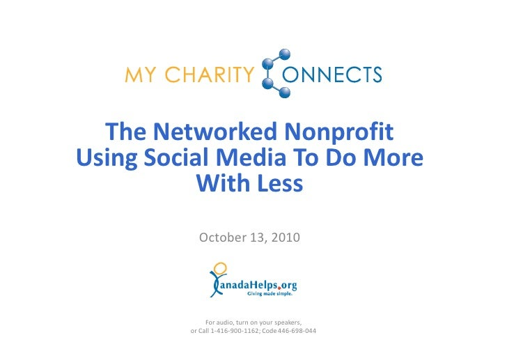 The Networked NonProfit - Using Social Media to Accomplish More With Less