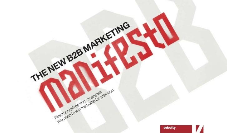 The new b2 b marketing manifesto