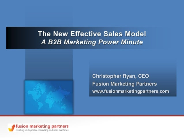 Christopher Ryan, CEOFusion Marketing Partnerswww.fusionmarketingpartners.com