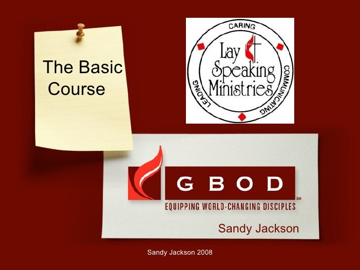 Lay Speaking Ministry Basic Course