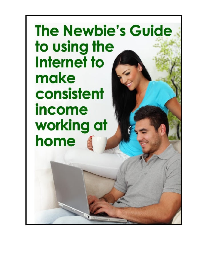 The newbie's guide to using the internet to make consistent income working from home
