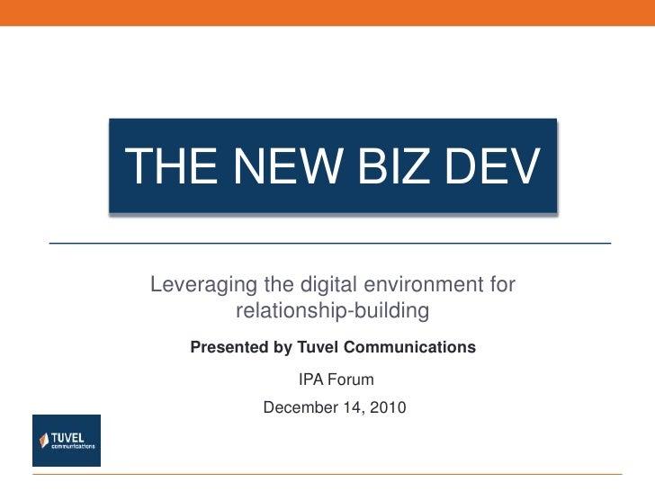 The New Biz Dev - IPA Forum