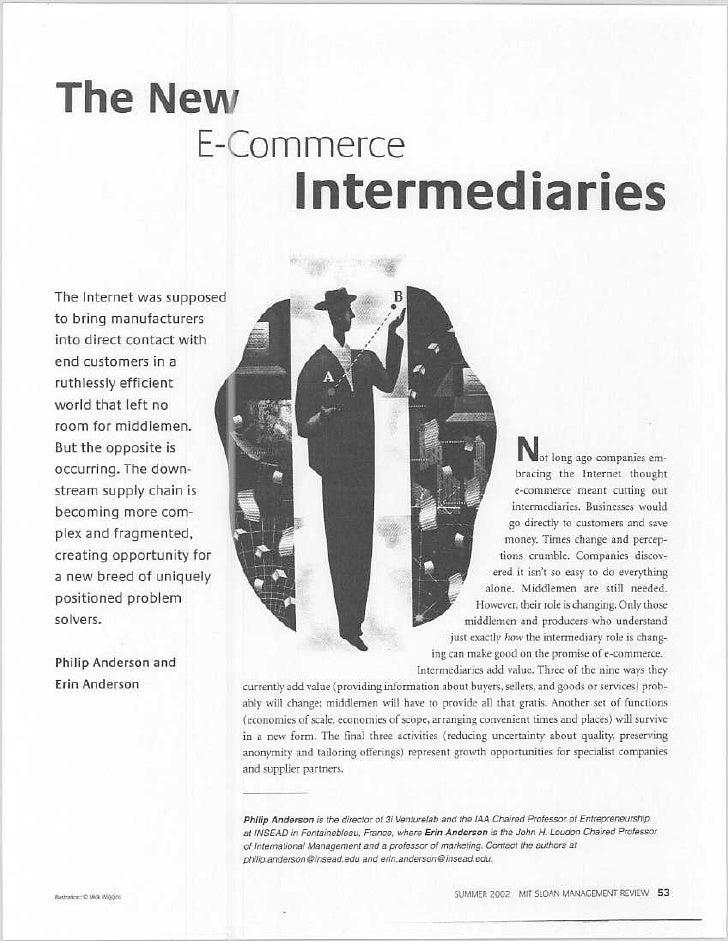 The new e commerce intermediaries