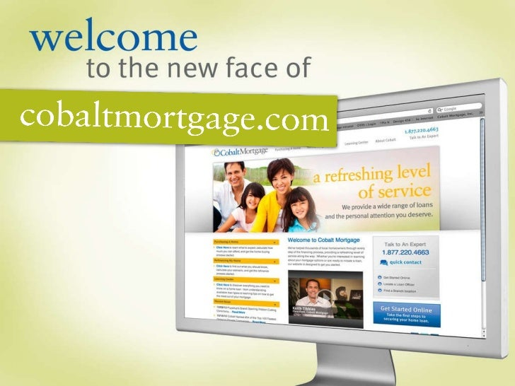 The New Face of cobaltmortgage.com