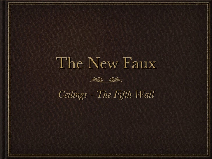 The New Faux