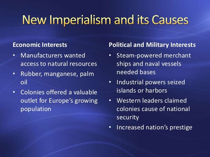 New imperialism causes essay