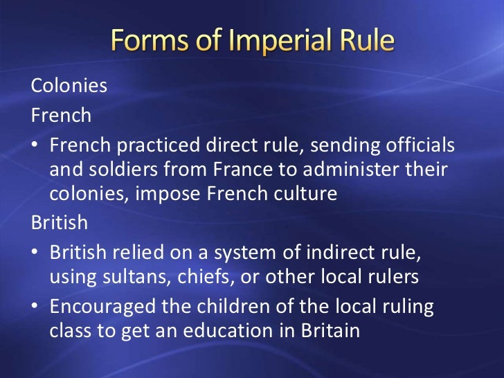 british imperial regulations d Salutary neglect: salutary neglect, policy of the british government from the early to mid-18th century regarding its north american colonies under which trade regulations for the colonies were laxly enforced and imperial supervision of internal colonial affairs was loose as long as the colonies remained loyal to.