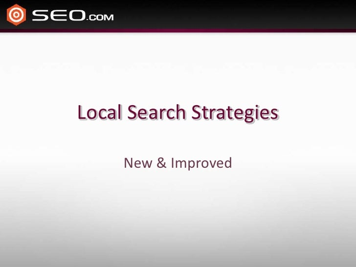 The NEW Local Search Strategies
