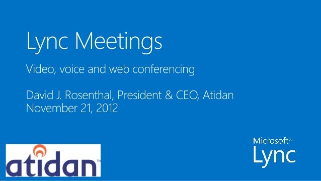 The new lync tech deck   meetings - from atidan
