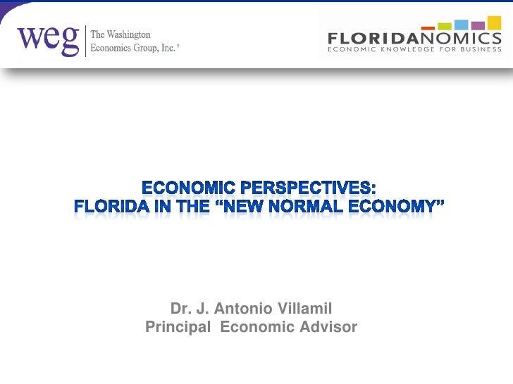 Dr. J. Antonio VillamilPrincipal Economic Advisor