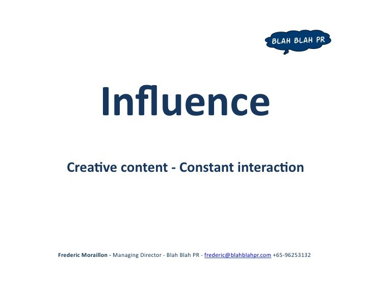 The new PR: Creative Content, Constant Interaction