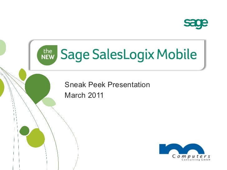 Sneak Peek Presentation March 2011