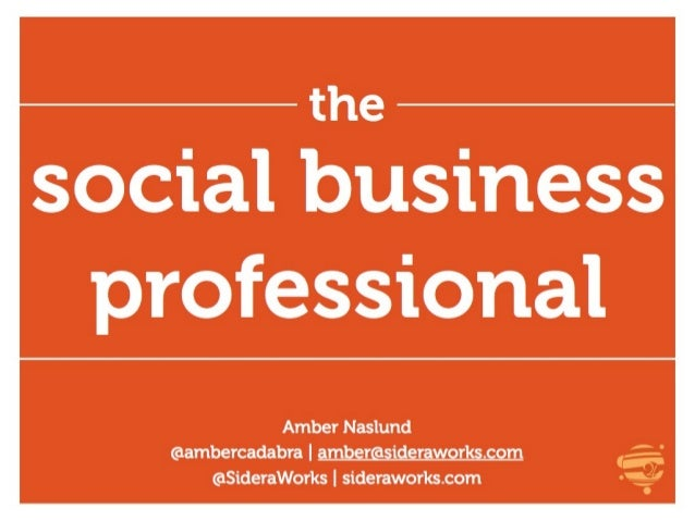 The New Social Business Professional