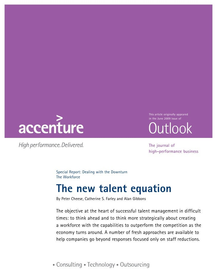 The New Talent Equation