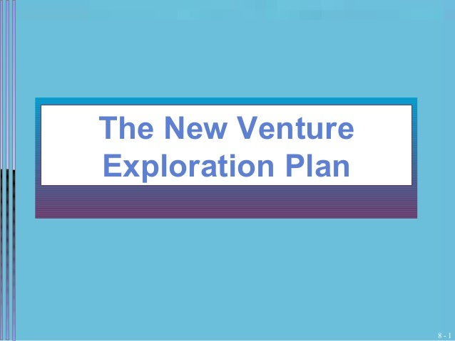 The New Venture Exploration Plan  8-1