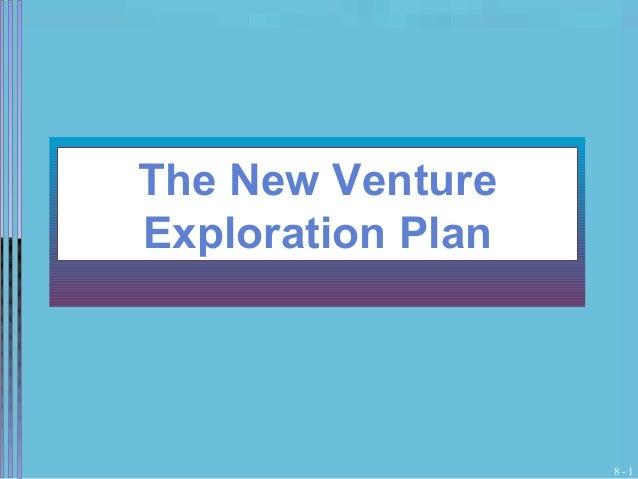 The new venture exploration plan