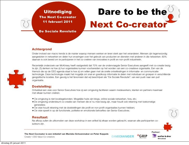 Uitnodiging                                  The Next Co-creator                                                          ...