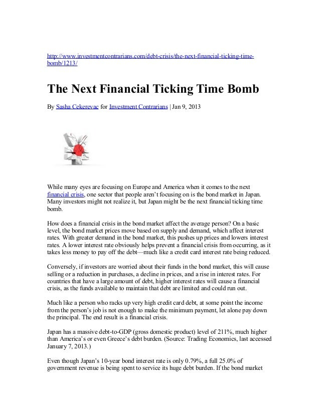 The next financial ticking time bomb