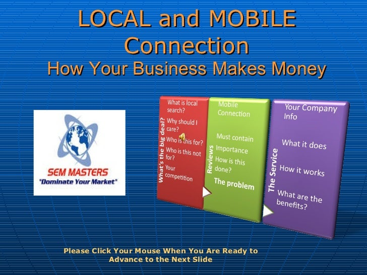 LOCAL and MOBILE Connection How Your Business Makes Money Please Click Your Mouse When You Are Ready to Advance to the Nex...