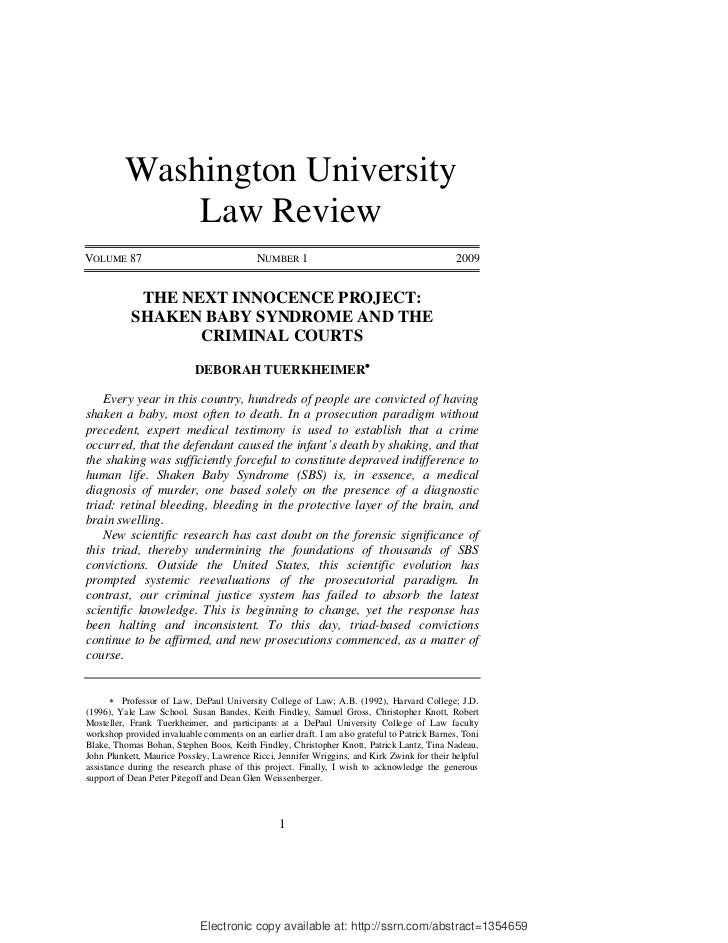 Washington University              Law ReviewVOLUME 87                                  NUMBER 1                          ...