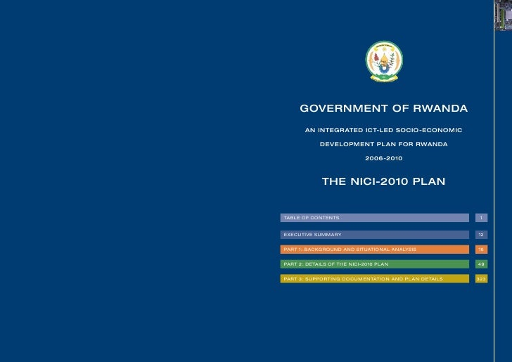 The nici 2010 plan an integrated ict-led socio-economic development plan for rwanda