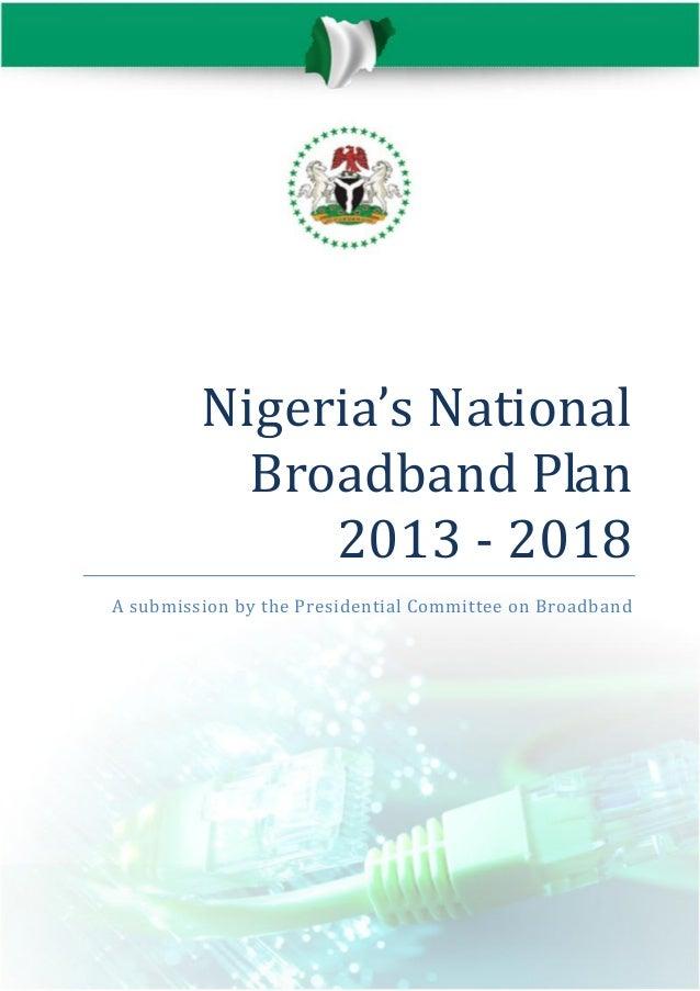 The nigerian national broadband plan