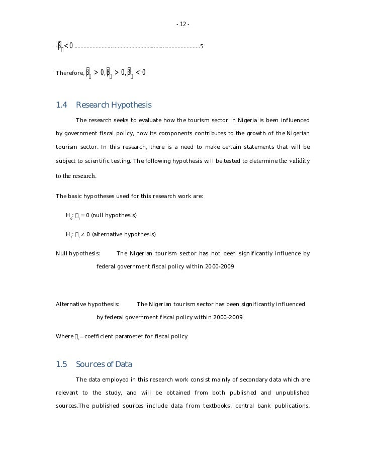 thesis of economic