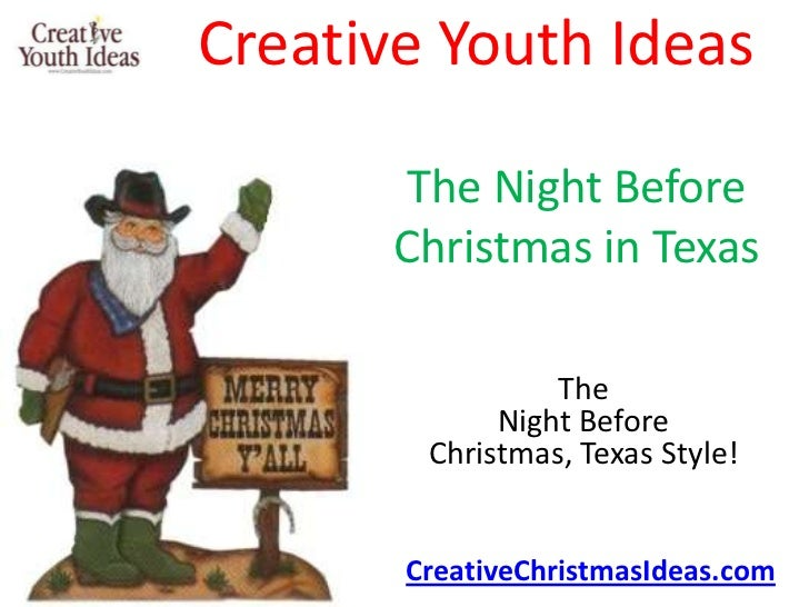 Creative Youth Ideas        The Night Before       Christmas in Texas                 The             Night Before        ...