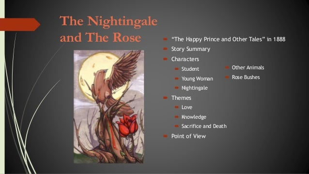"a stylistic analysis on the nightingale Literary review: oscar wilde's ""the nightingale and the rose"" written by konstantina sfrintzeri the nightingale and the rose is an emotional story following the."