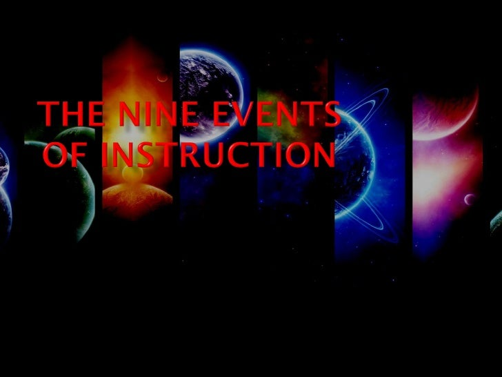 The Nine Events Of Instruction