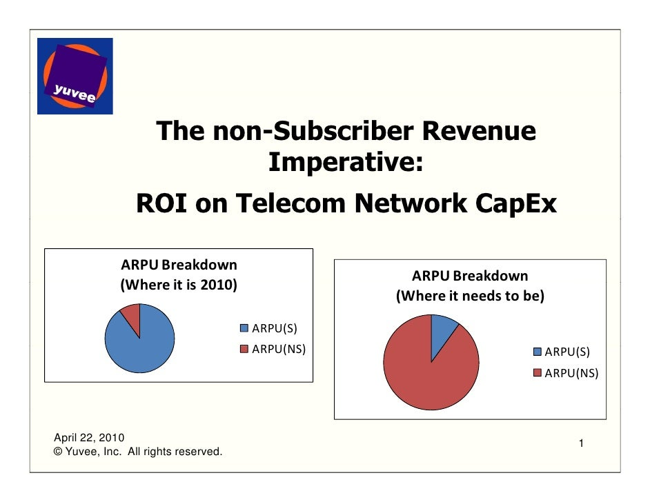 The Non subscriber Revenue Imperative - ROI on Telecoms Cap Ex - 4.22.2010