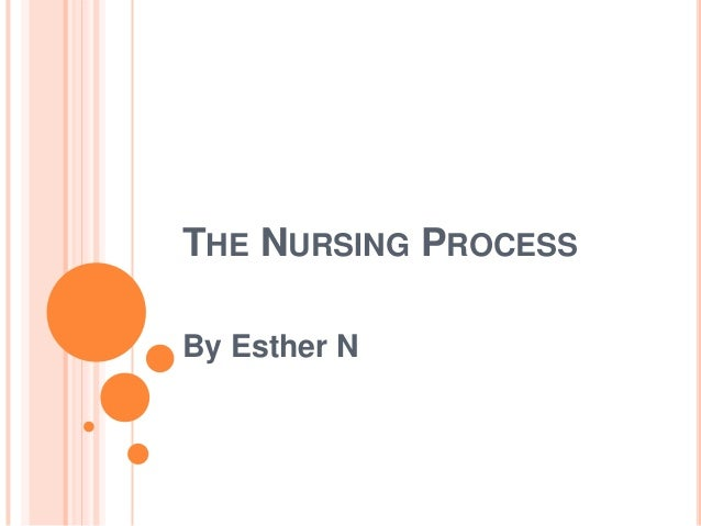 THE NURSING PROCESS By Esther N