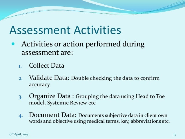 the assessment process essay Assessment : - assessment is a process of determining whether predetermined educational objective has been achieved - assessment is directly related to the course learning objective - assessment of student learning is the measurement of how a student's knowledge, attitudes or values and skills have changed as a result of academic experience.