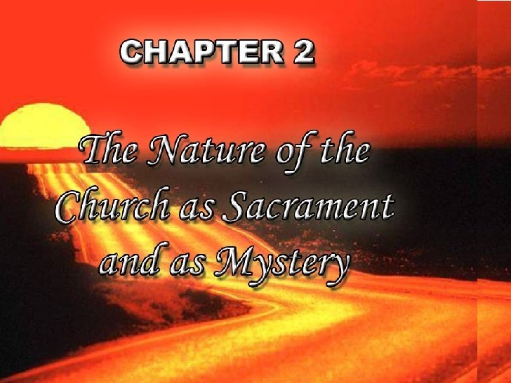 Theo2 [ Church As A Sacrament And A Mystery]