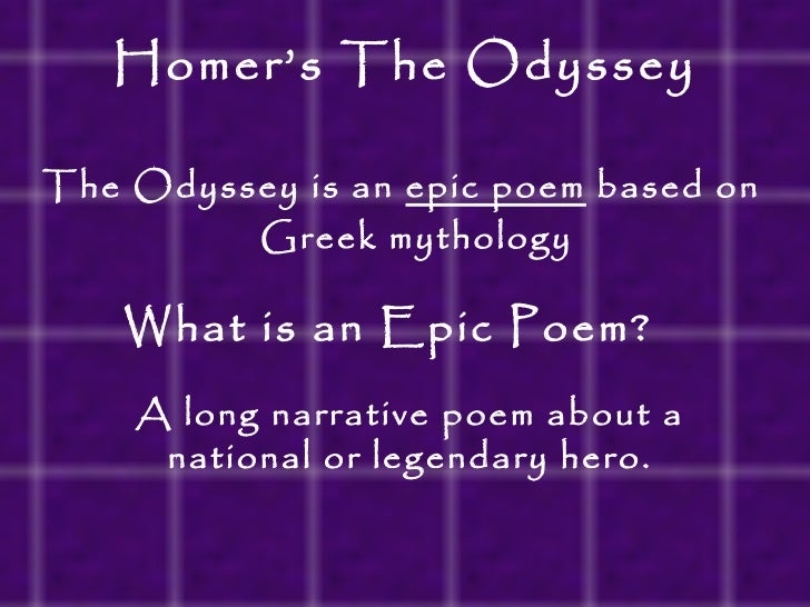 an analysis of the prophecies in the odyssey an ancient greek epic poem by homer The odyssey is one of the two major ancient greek epic poems the other being the iliad, attributed to the poet homer the poem is commonlyathenian tragic poets there was an early heroic poem about the argonauts, too, which had some influence.