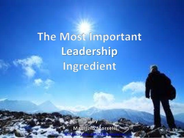The one leadership ingredient