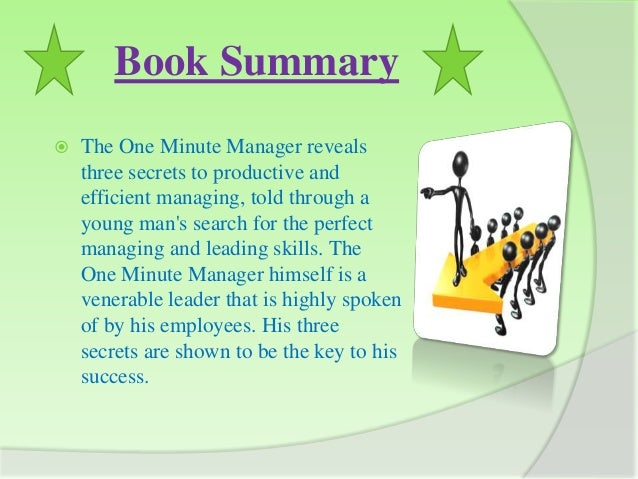Sample book report one minute manager