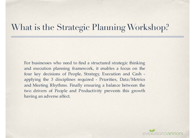 What is a business strategic plan