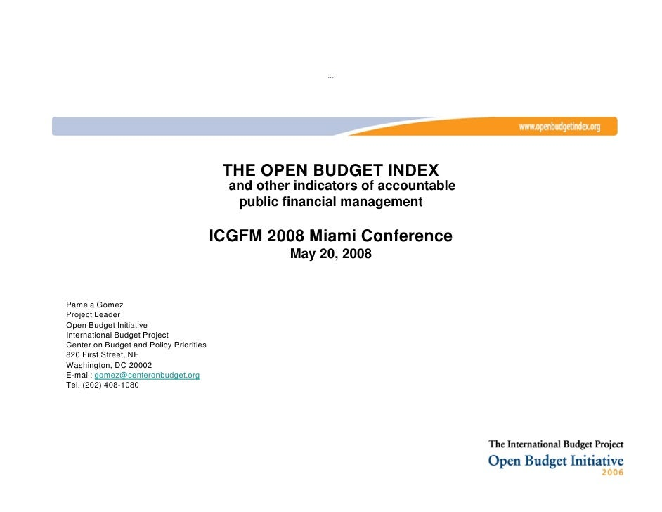The open budget index