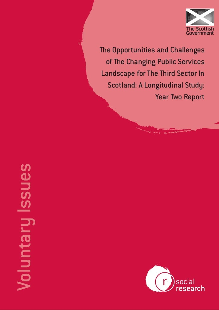 The opportunities and challenges of changing public services landscape for the third sector   year two