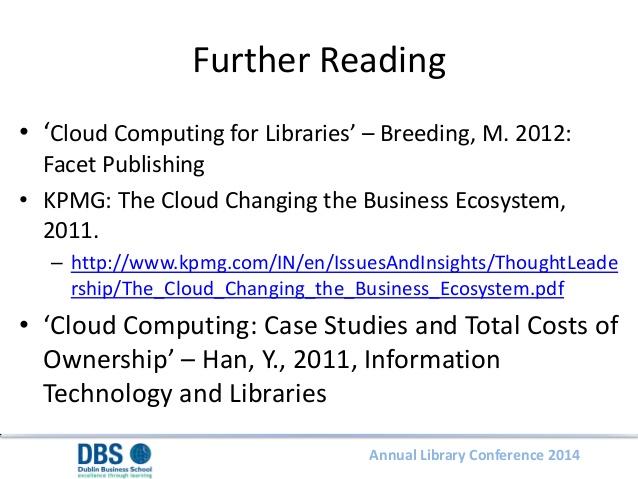Modelling the Economic Impact of Cloud Computing