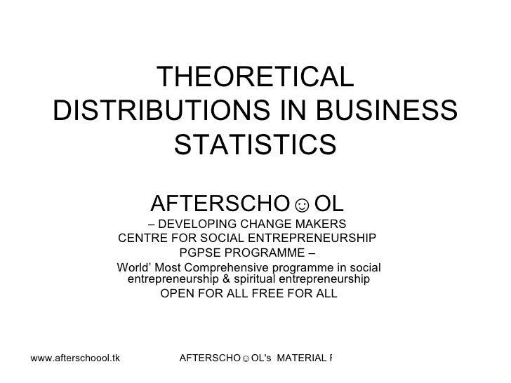 Statistics & Business Problems 8 Oct